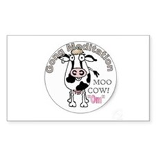 Moo Cow Om (Round) Decal