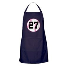 Softball Player Number 27 Apron (dark)