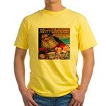 Merry Christmas Santa Claus Yellow T-Shirt