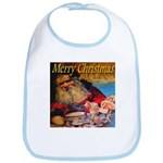 Merry Christmas Santa Claus Bib