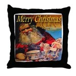 Merry Christmas Santa Claus Throw Pillow