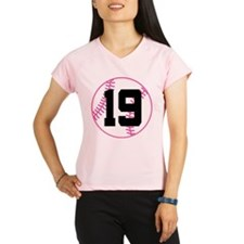 Softball Player Number 19 Performance Dry T-Shirt