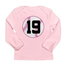 Softball Player Number 19 Long Sleeve Infant T-Shi