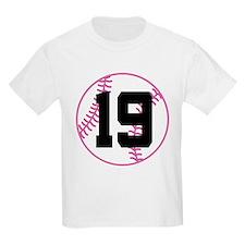 Softball Player Number 19 T-Shirt