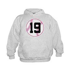 Softball Player Number 19 Hoodie