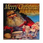 Merry Christmas Santa Claus Tile Coaster