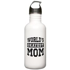 Vintage World's Okayest Mom Water Bottle