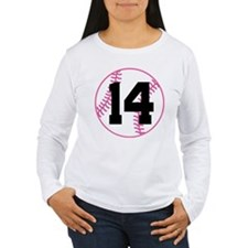 Softball Player Number 14 T-Shirt
