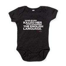 Murdered the English Language Baby Bodysuit