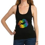 Big Rainbow Lips Racerback Tank Top