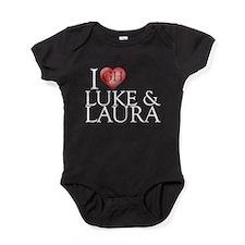 I Heart Luke & Laura Baby Bodysuit