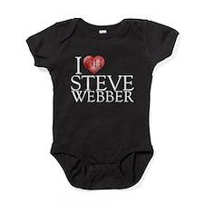 I Heart Steve Webber Baby Bodysuit
