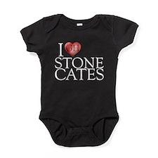 I Heart Stone Cates Baby Bodysuit