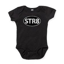 STR8 Black Euro Oval Baby Bodysuit