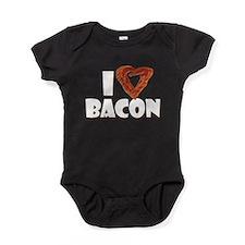 I Heart Bacon Baby Bodysuit