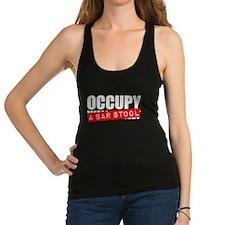 Occupy A Bar Stool Racerback Tank Top