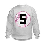 Softball Player Number 5 Jumper Sweater