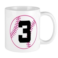 Softball Player Number 3 Mug