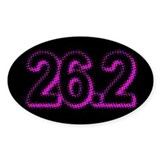 Super Unique 26.2 POP ART pink color Decal