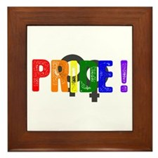 Pride, Double Female Symbols Framed Tile