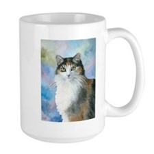 Cat 572 Calico Ceramic Mugs