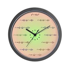 Math Clock (AM-PM-Minutes) Wall Clock