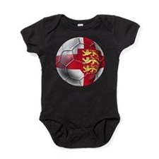 English 3 Lions Football Baby Bodysuit