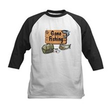 Gone Fishing Design Tee