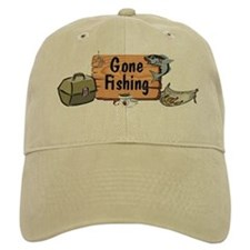Gone Fishing Design Baseball Cap