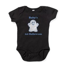 [NAME]'s 1st Halloween Ghost Baby Bodysuit