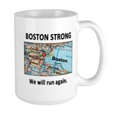 Boston Strong Map Mug
