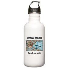 Boston Strong Map Water Bottle