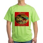 Season's Greetings Santa Green T-Shirt