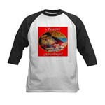 Season's Greetings Santa Kids Baseball Jersey