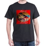 Season's Greetings Santa Dark T-Shirt