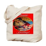Season's Greetings Santa Tote Bag