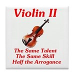 Violin II Tile Coaster