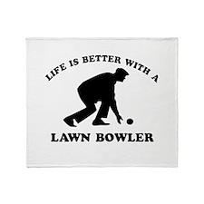Lawn Bowler Designs Throw Blanket