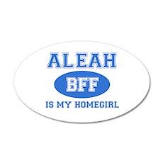 Aleah BFF designs 35x21 Oval Wall Decal