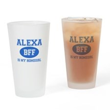 Alexa BFF designs Drinking Glass