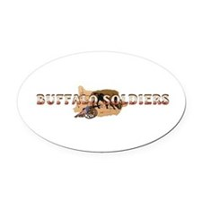 ABH Buffalo Soldiers Oval Car Magnet