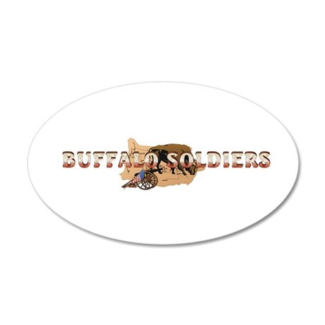 ABH Buffalo Soldiers 20x12 Oval Wall Decal