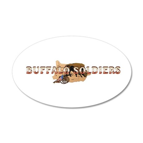 ABH Buffalo Soldiers 35x21 Oval Wall Decal