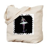 Ballerina in Tutu From Behind Tote Bag