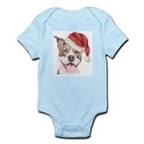 Christmas Pit Bull Terrier Infant Bodysuit