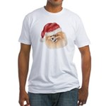 Christmas Pomeranian Fitted T-Shirt