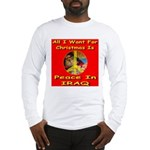 Santa Clause Peace Symbol Long Sleeve T-Shirt