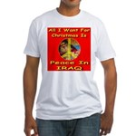 Santa Clause Peace Symbol Fitted T-Shirt