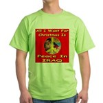 Santa Clause Peace Symbol Green T-Shirt