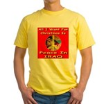 Santa Clause Peace Symbol Yellow T-Shirt